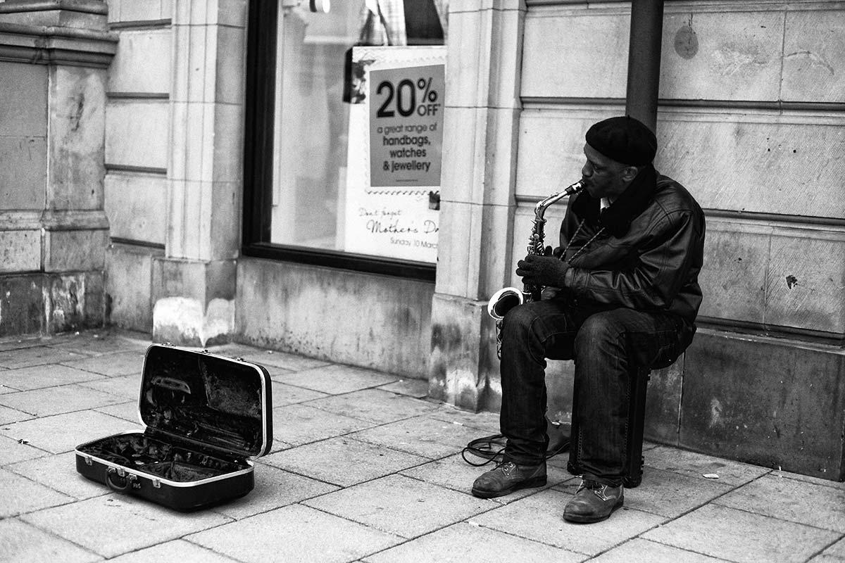 saxofone na rua